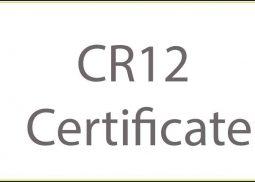 CR12 Certificate Kenya