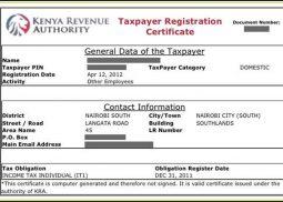 Tax Compliance Certificate Kenya