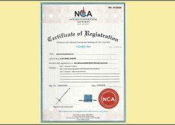 NCA Registration Certificate Kenya